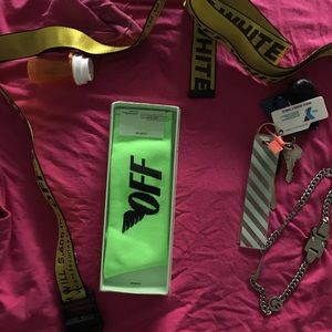 Off white industrial belt seen as in pics